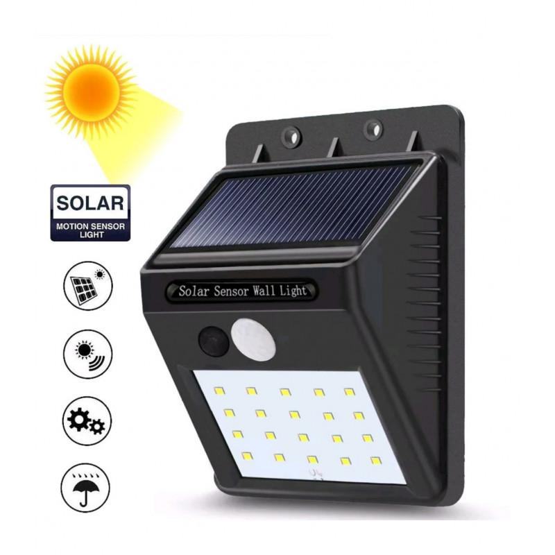 LED соларен прожектор със сензор и 20 бр. светодиоди