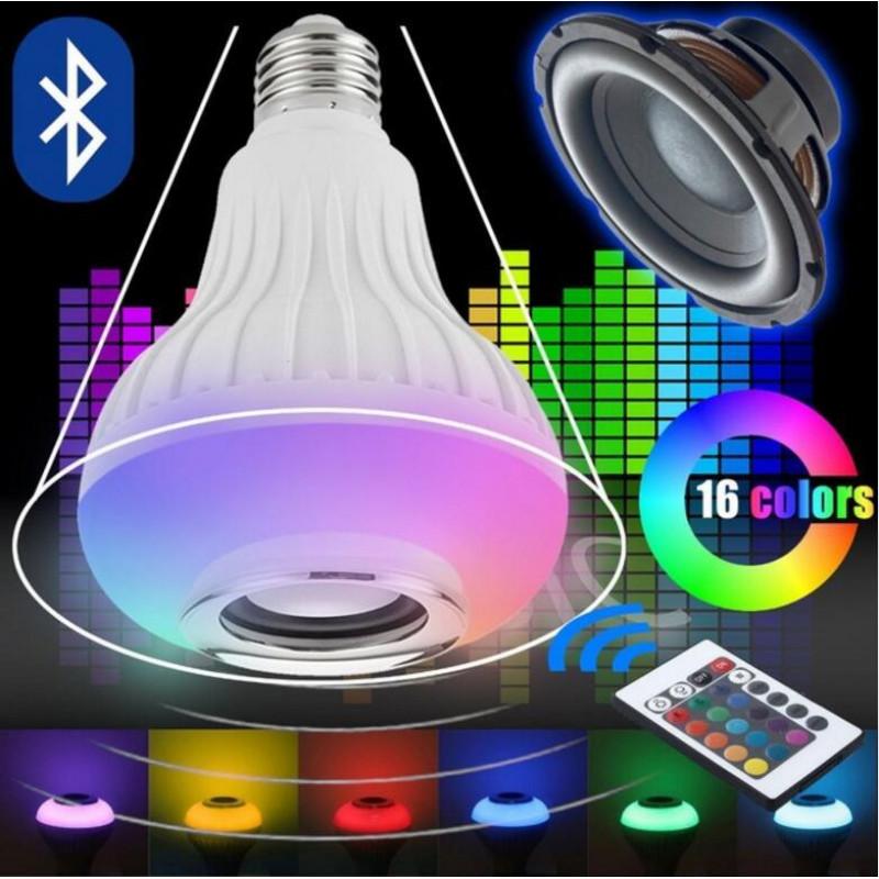 КРУШКА + ТОНКОЛОНА, лед диско крушка, диско лампа, bluetooth, блутут