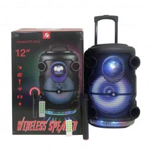 Караоке тонколона KTS Speaker KTS-1519 с AUX,USB,TF,FM и Bluetooth + безжичен микрофон и светлинни ефекти