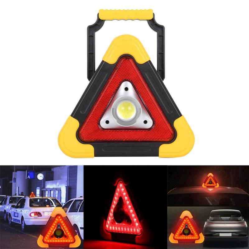 5в1 МОЩЕН LED Авариен триъгълник с вграден соларен панел: WH-6609