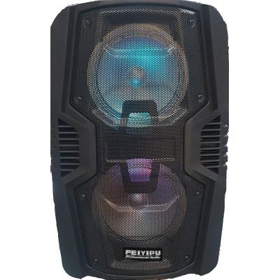 Караоке колона с два говорителя (2 х 8 инча) с безжичен микрофон, USB флашка или SD карта ,BLUETOOTH, РАДИО + СВЕТЛИННИ ЕФЕКТИ