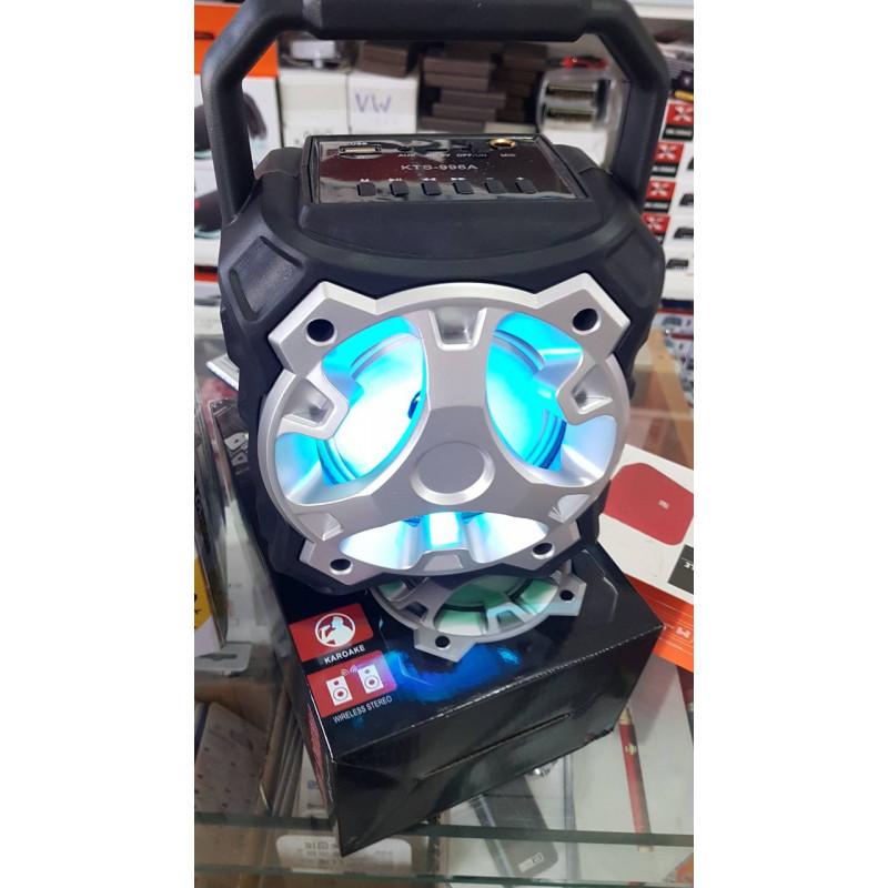 Преносима HiFi караоке тонколона KTS-996 Portable Bluetooth Speaker със светлинни ефекти