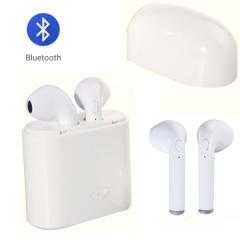 Безжични слушалки i7S с кутия за зареждане 950 mAH, Mic, Multipoint, Бели