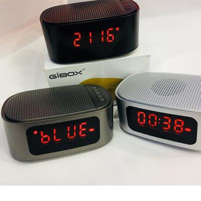 РАДИА С MP3 - РАДИО ЧАСОВНИК С USB, SD КАРТА, БЛУТУТ И ГОЛЯМ ДИСПЛЕЙ GIBOX GT-1