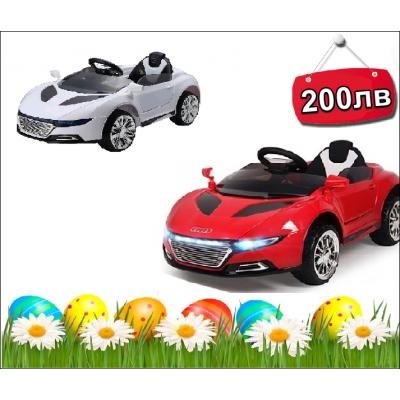 НОВА Детска акумулаторна количка с дистанционно AUDI,LED светлини,MP3