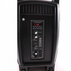 """Feiyipu 8"""" ES-3000A Активна тонколона с LED светлини, безжичен микрофон и дистанцонно, 200W"""