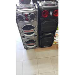 НОВ МОДЕЛ ! Тонколона 2х12 инча BOSE , 2 микрофона и дистанционно и Bluetooth