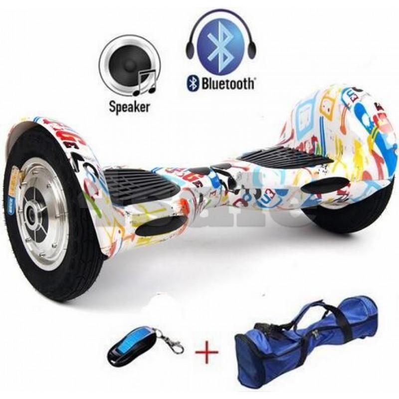 Ховърборд 6.5 инча Светло шарен, Електрически 6.5 инча с Bluetooth