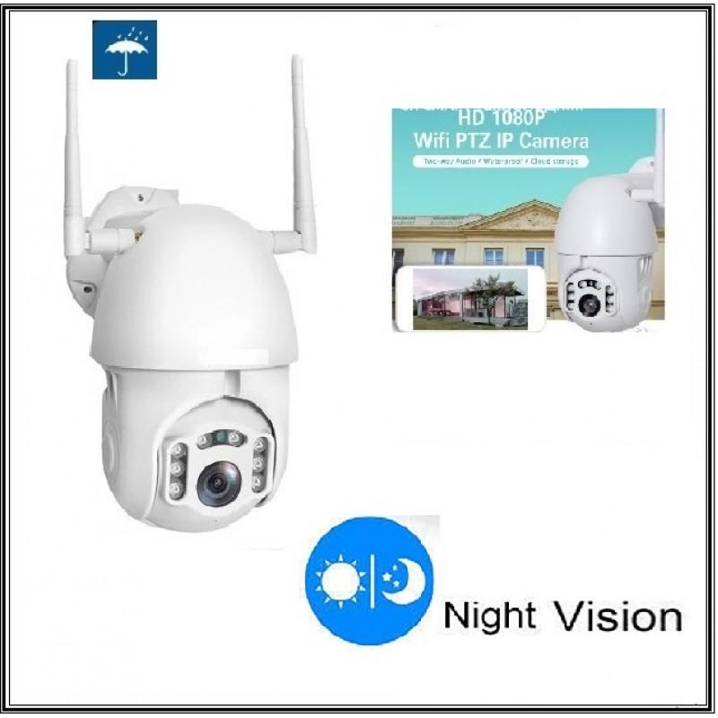 Безжична външна въртяща WIFI Full HD IP camera камера 2MP Lens FULL HD 1080Р с 8 броя IR светлини