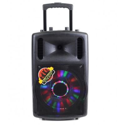 Mba Q12 Караоке тонколона с 2 безжични микрофона,радио,флашка,сд карта и блутут функция !