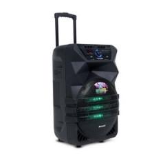 Караоке тонколона Meirende К5-12, 12 инчов говорител, вграден акумулатор, bluetooth, 2 броя безжични микрофони