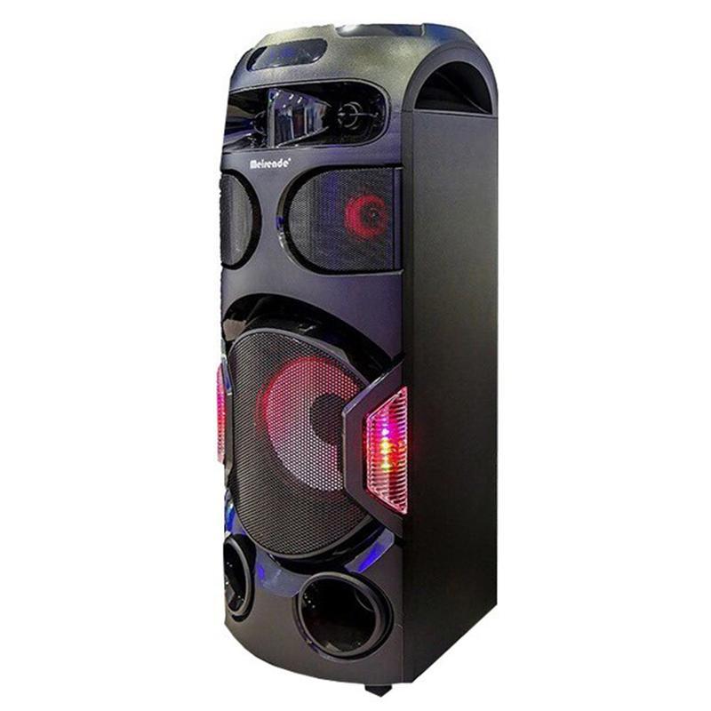 Преносима Bluetooth аудио система тип (КУЛА) - Meirende MH-336 за Караоке 2500W с 2 микрофона НОВА