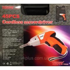 IUOYE TOOLS Акумулаторна отвертка 45Pcs Cordless Screwdriver 180RPM