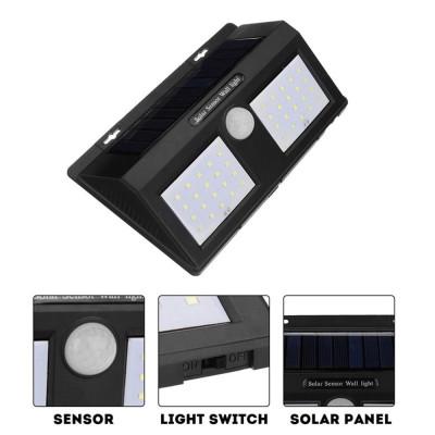 Соларна LED лампа KAPP, със сензор за движение, 40 LED диода