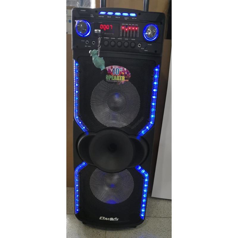 """НОВ МОДЕЛ ! Tонколона OM&LS модел MR-1010M на батерии Speaker с 2х10"""" Буфери + еквалайзер и цветомузика"""
