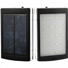 НЕМСКА Соларна Външна Батерия UKC - 50000 MAH за ЗАРЕЖДАНЕ НА УСТРОЙСТВА + LED СВЕТЛИНИ
