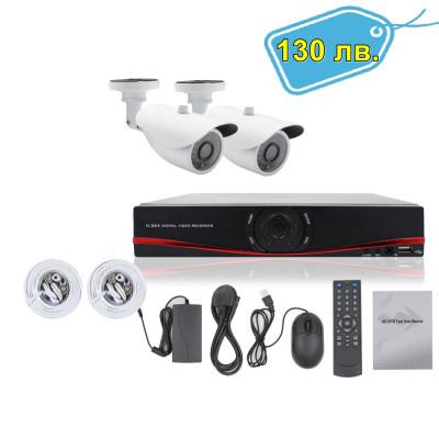 HD Пълен Пакет - Dvr 4 канален D1 + 2 външни камери, 3G
