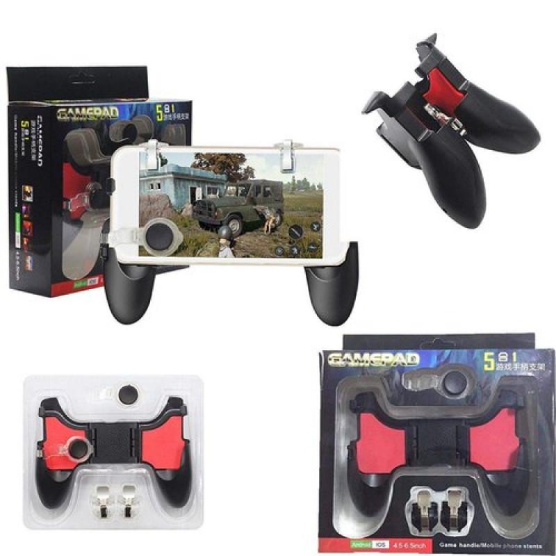 Универсален джойстик-контролер за смартфон, gamepad ,Fortnite, game pad, 5 в 1