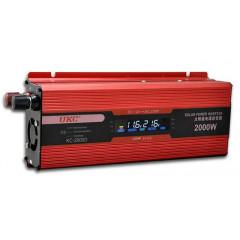 Инвертор на напрежение с дисплей от 12V на 220V с мощност от 2000W