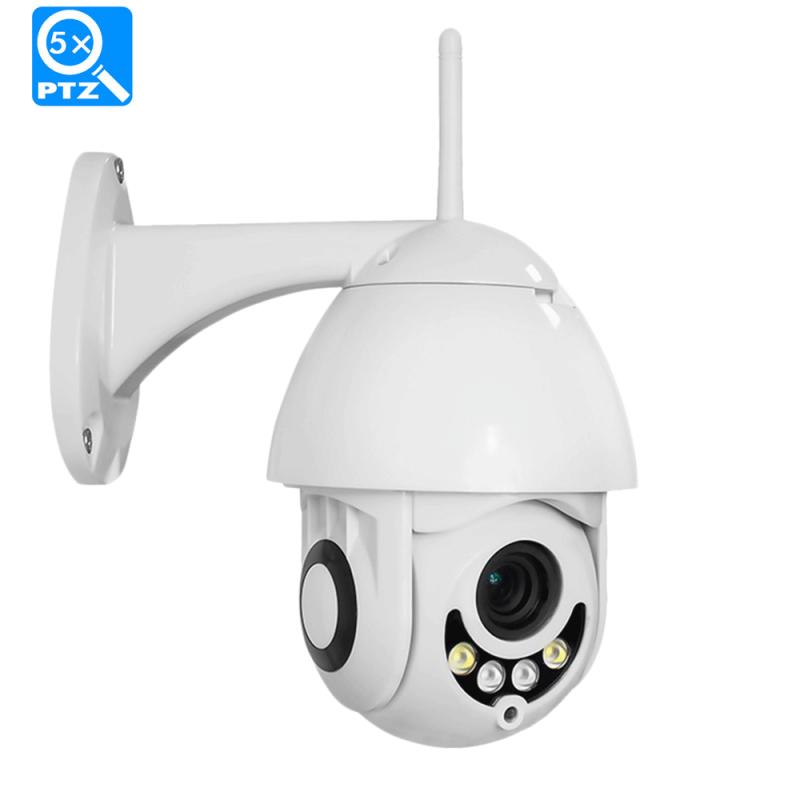 1080P WiFi IP Camera Wireless PTZ с нощно виждане, въртяща се - за външен монтаж
