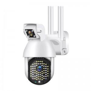 WIFI FULL HD 3.0MP 72 LED 355° ВЪРТЯЩА КАМЕРА с двойна камера и телефото, IP66 водоустойчива