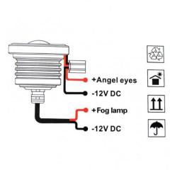 LED Халогени Angel Eyes дневни светлини, 2 бр. в комплект