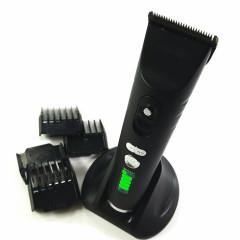 Професионална машинка за подстригване ProMozer MZ-9821, Безжична, 5 приставки, Черен