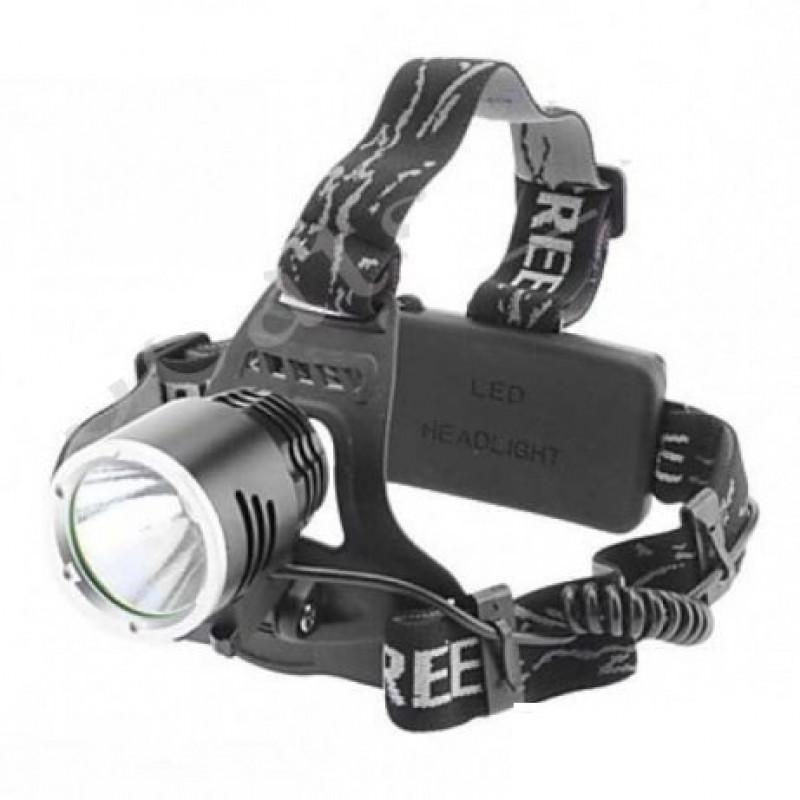 акумулаторен челник фенер за глава Cree LED зарядно 220V две батерии 18650 лов риболов къмпинг