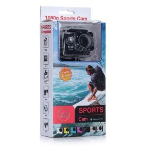 Спортна Екшън камера GoPlus, модел SP1080p, водоустойчива, 1080P (1920 х 1080) Full HD, пълен комплект