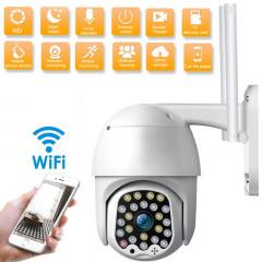 Външна Водоустойчива Камера Wifi Full HD 2.0MP 23 LED 360° въртяща, куполна x4 zoom, цветно нощно