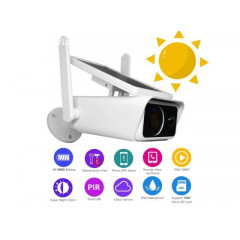 Соларна безжична WIFI IP камера Automat, 1080P HD, 2 антени Водоустойчива система за видеонаблюдение