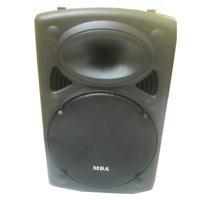 Лукс модел-Най-мощната 15 инча караоке тонколона Mba F-15 с акумулатор, Bluetooth, безжич. микрофон, радио