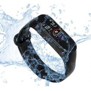 Фитнес гривна M4 Band Black, HR, Калории, Крачкомер, Bluetooth, Нотификации за съобщения, Черна