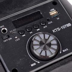 Караоке Тонколона KTS-1078B  с 1 жичен микрофон, Bluetooth, FM радио