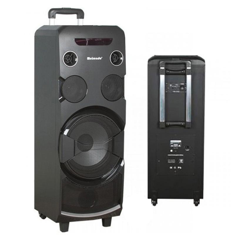 Преносима Bluetooth аудио система тип (КУЛА) - Meirende MH-338A за Караоке 2000W с 2 микрофона НОВА