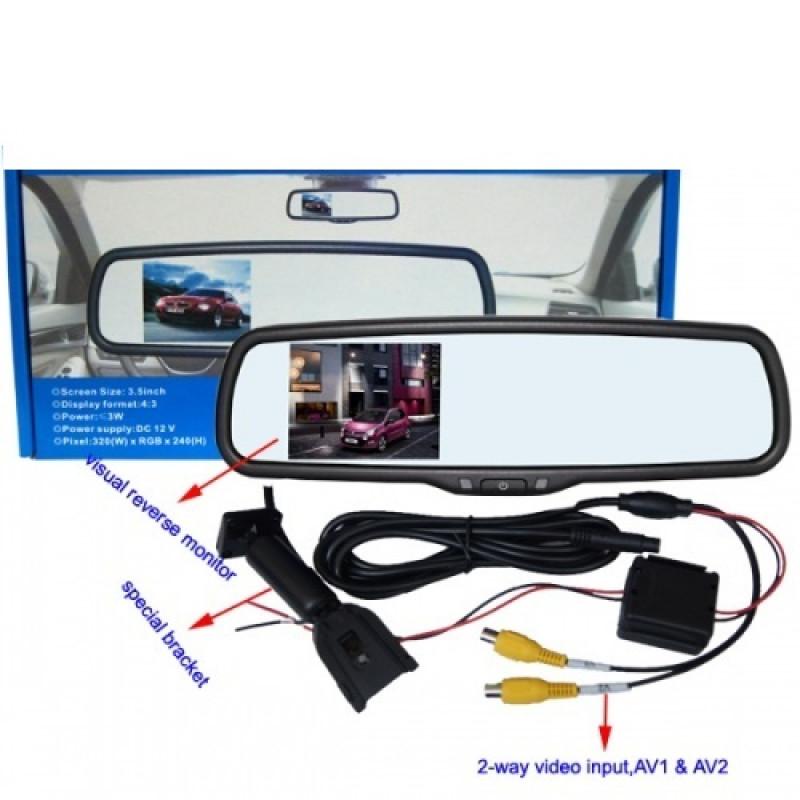 + камера Lcd дисплей в огледало за задно виждане задно виждане- парктроник системи