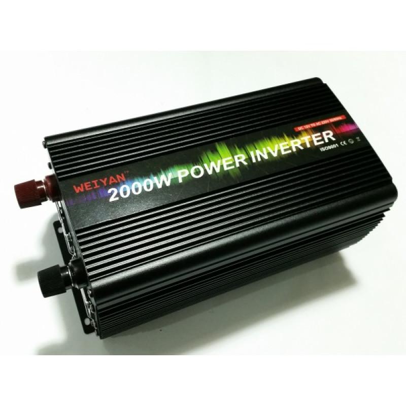 2000 w 24v / 12 v на 220 v,за кола Weiyan Инвертор преобразувател