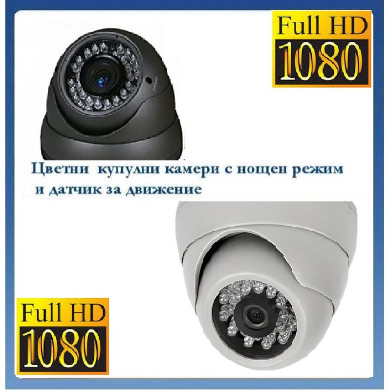 1500 Твл Цветни куполни камери с нощен режим и датчик за движение