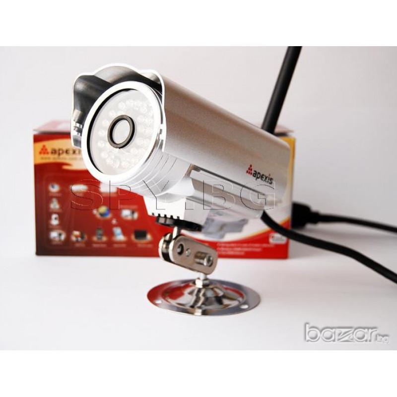 Охранителна IP камера HD - външен монтаж с висока резолюция безжична WI-fi