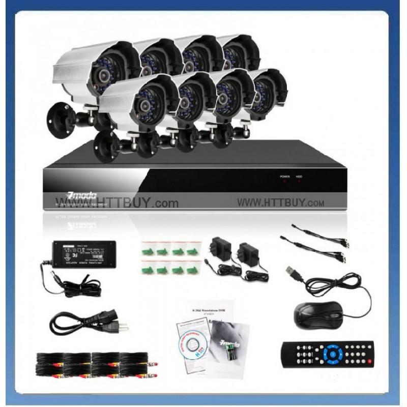 1800 твл Hd пакет - Dvr 8 канален + 8 камери външни или вътрешни