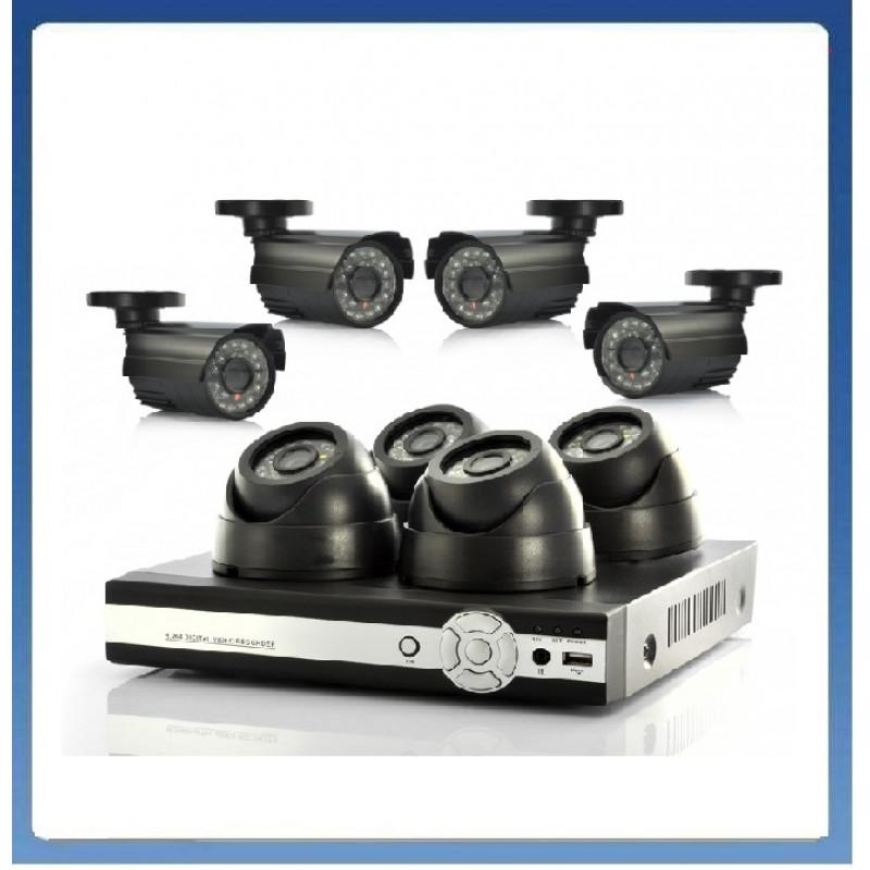 1800 твл Hd пакет - Dvr 8 канален + 8 камери външни или вътрешни, пълна система за видеонаблюдение