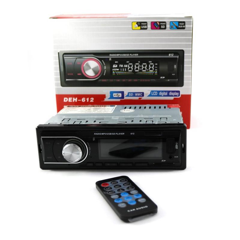 АВТО МУЗИКА  MОДЕЛ: DEH-612 +bluetooth -хендсфри Mp3,usb,sd радио плеар ,четящ USB flash,sd карти