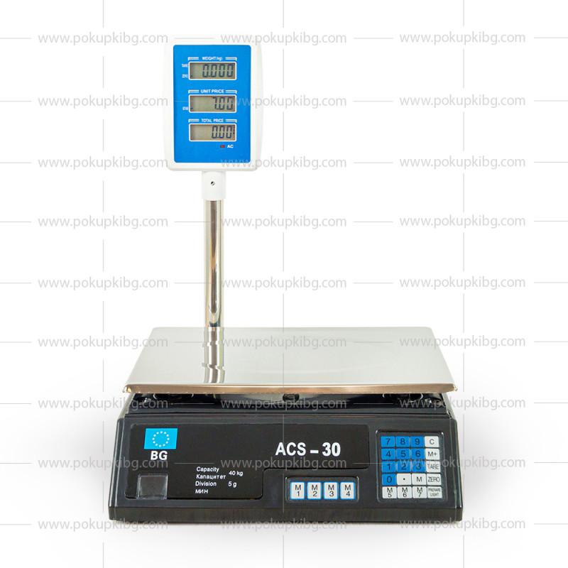 Електронен кантар до 40кг с изнесен дисплей - везна с локатор