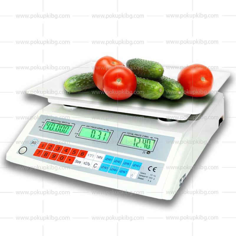 Електронна везна до 40 кг. с вграден акумулатор и пластмасова тарелка