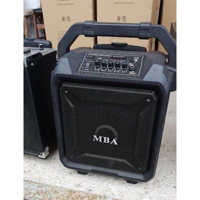НОВА Преносима Караоке Тонколона MBA, 8 инчова с 2бр. безжични Микрофона, Акумулатор, Bluetooth, FM радио, USB, SD карта