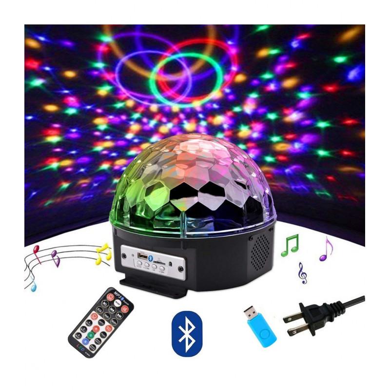 ЛАЗЕРНО КЪЛБО / LED СВЕТЕЩА МУЗИКАЛНА  Диско топка с Bluetooth и дистанционно + флашка