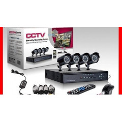 2000 TVL Комплект C.c.t.v -hd-dvr 4 канален пълен пакет за видеонаблюдение + 4 камери
