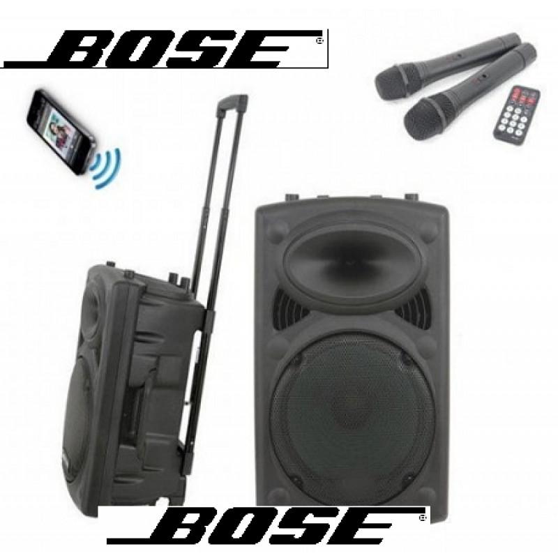 12-ка НОВО BOSE-S12! Караоке тонколона BOSE-S12, Bluetooth, 2 бр. микрофони
