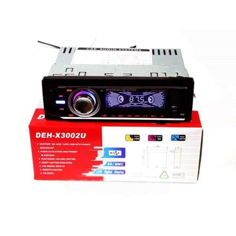 НОВ МОДЕЛ ! радио плеър с Mp3,USB,SD Card,FM модел DEH-X3002U