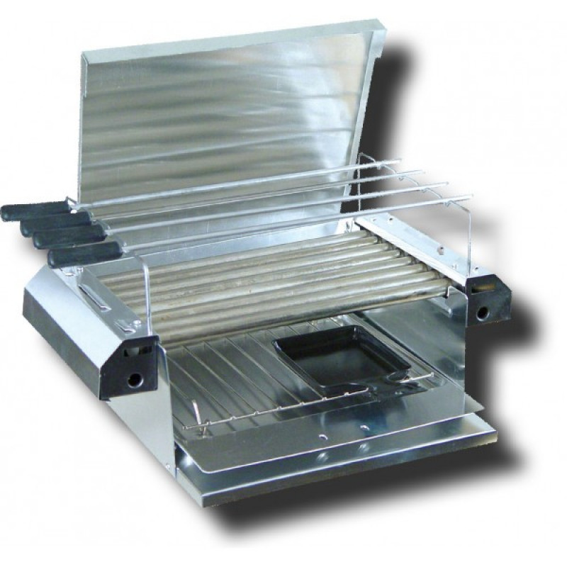 800W мини- грил скара с шишове Подходящ за сандвичи,месо , наденички и др